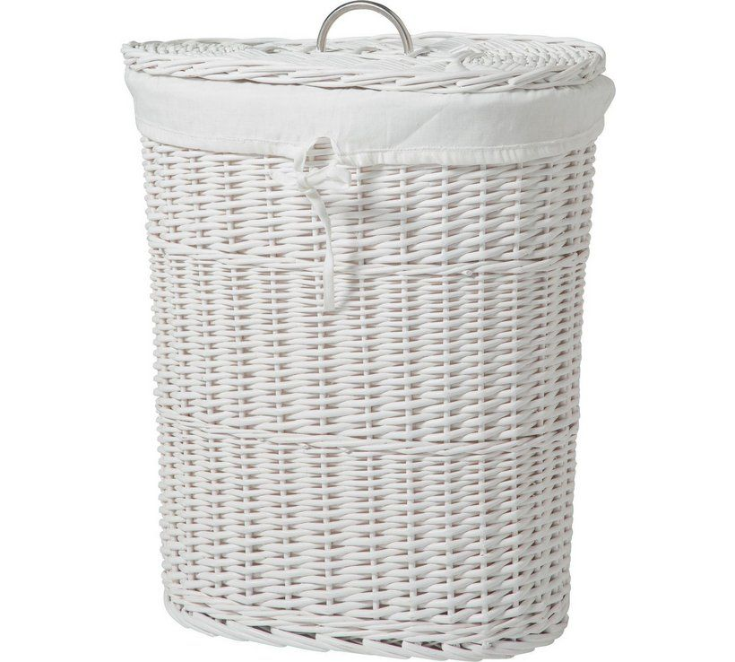Buy Argos Home Willow 60 Litres Linen Bin White Linen Baskets