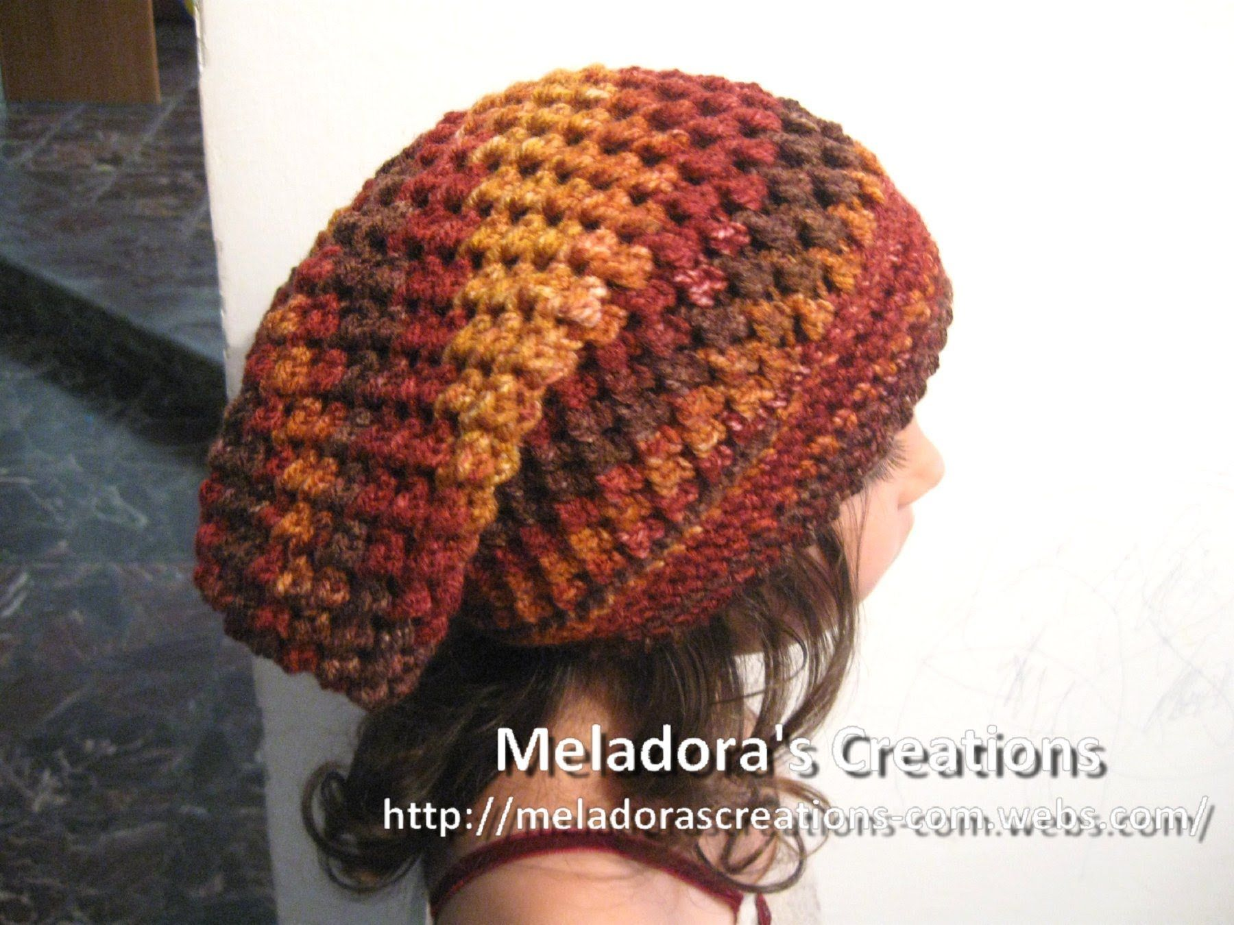 Crochet Hat - de Meladora mariposa puntada Slouch Sombrero Tutorial ...