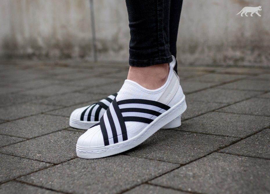 new product 1ccc8 b6feb adidas x White Mountaineering Superstar Slip On PK (Ftwr White   Core Black    Ftwr White)