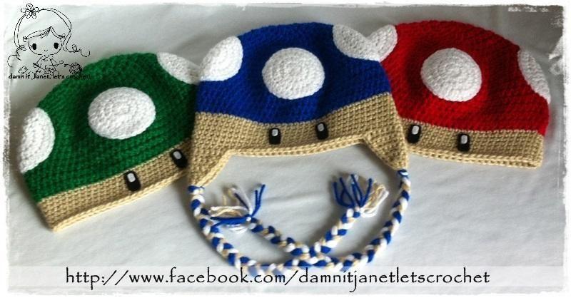 Free Crochet Mario Bros. Mushroom Beanie Pattern | Gorros ...