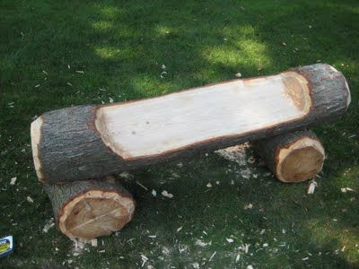 Perfect Log Bench/car For The Back Yard.