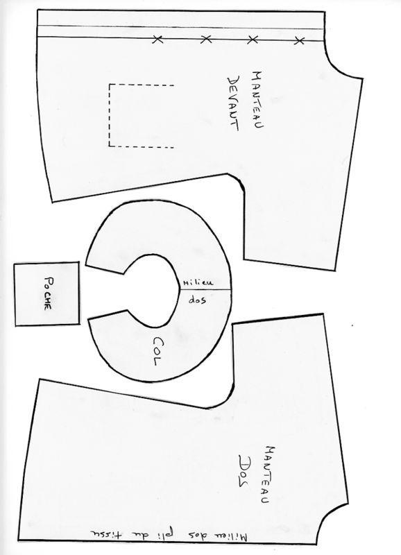 manteau pour la poup e de voyage l 39 armoire aux nounours. Black Bedroom Furniture Sets. Home Design Ideas