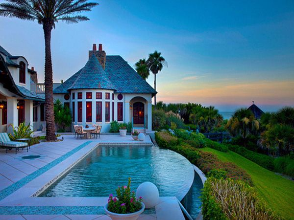 Infinity pool house beautiful hill house infinity pool interior