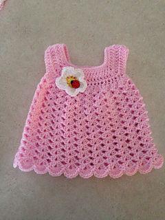 Bernat Easy Baby Sun Dress | Preemie, Newborn, 0-3m, 3-6m | Ravelry | Free Pattern