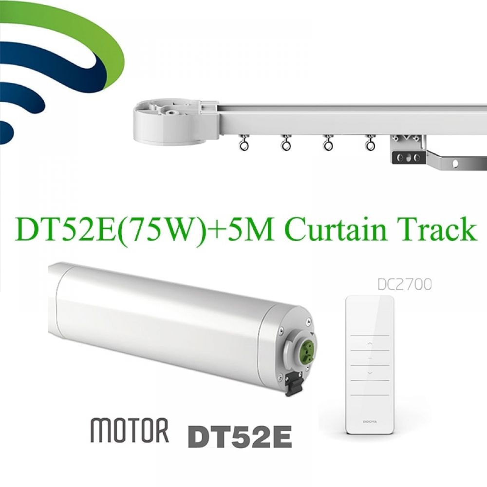 Dooya Electric Curtain System Dt52e 75w Curtain Motor With Remote