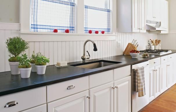 How To Install A Soapstone Countertop Beadboard Kitchen