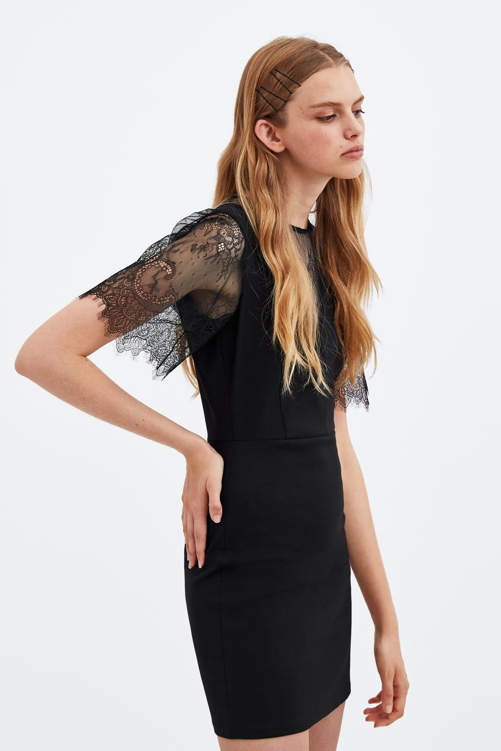 f1889899 Image 3 of CONTRASTING LACE DRESS from Zara | SS19 IDEAS | Lace ...