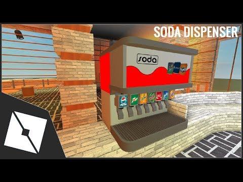 Roblox Studio Speedbuild Soda Dispenser Machine Youtube