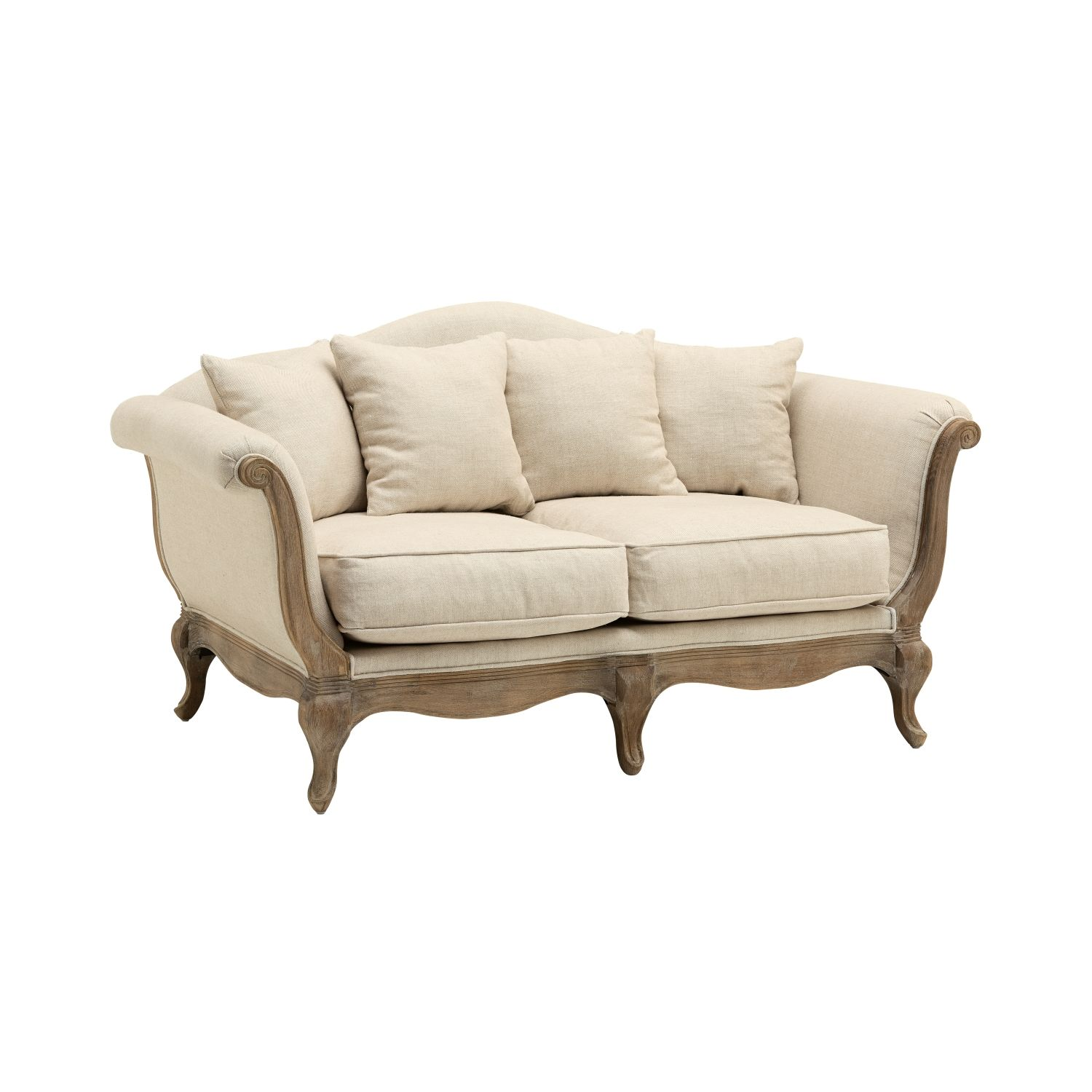Country Style Maison 2 Seater Classic Fabric Sofa From
