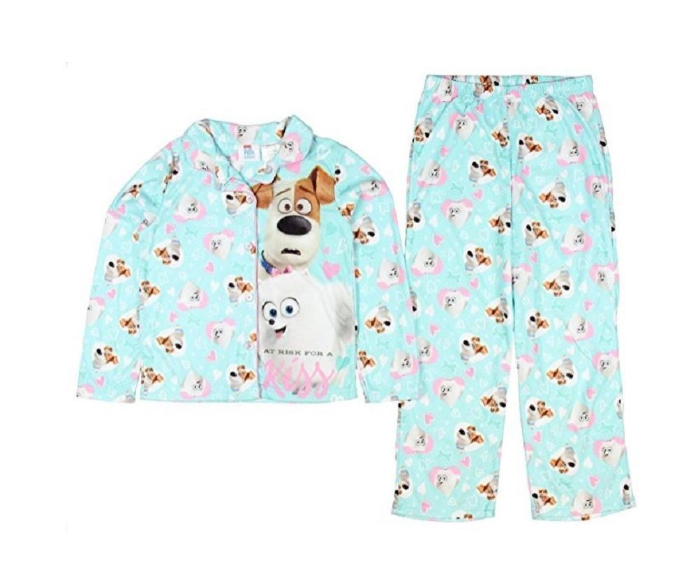 15 99 Secretlifeofpets Pajamas 4 5 Long Sleeve Top Bottom Gidget Max New Illumination Twopiece Secret Life Of Pets Pajamas Secret Life