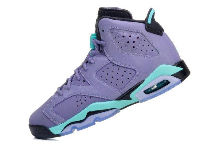 newest collection 49de2 5e51b official store air jordan retro 6 purple nike vi mens shoes light sky blue  hot new