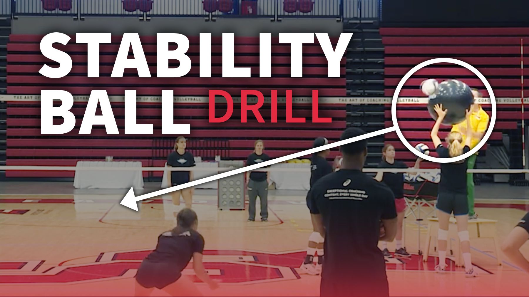 Stability Ball Drill For Chasing Down Block Touches With Images Stability Ball Coaching Volleyball Volleyball Drills