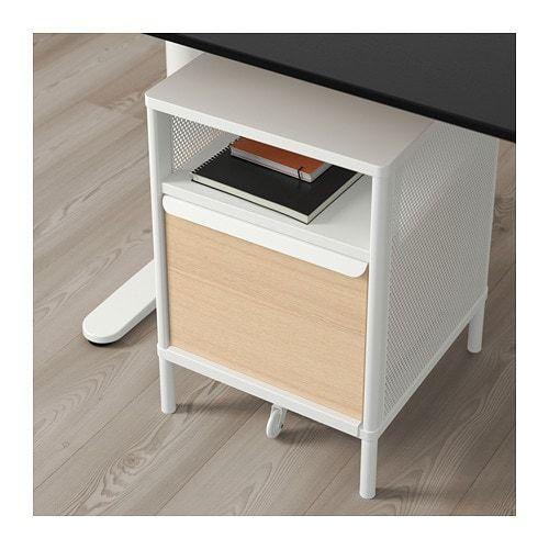 Galant Hoekbureau Rechts.Bekant Storage Unit With Smart Lock Mesh White Ikea Progetti Da