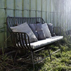 Canapé de jardin en métal et coussin Dreamy Nordal