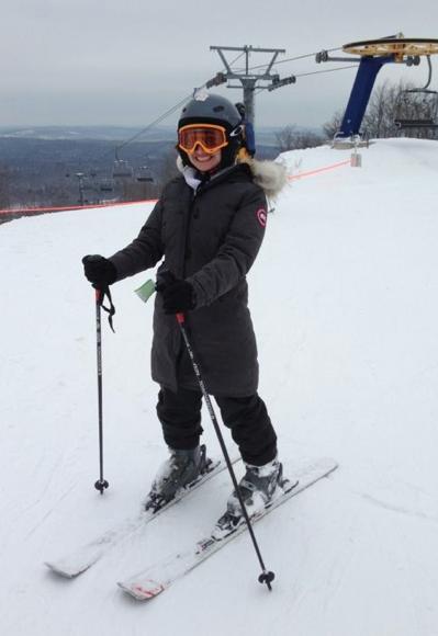 canada goose jacket skiing