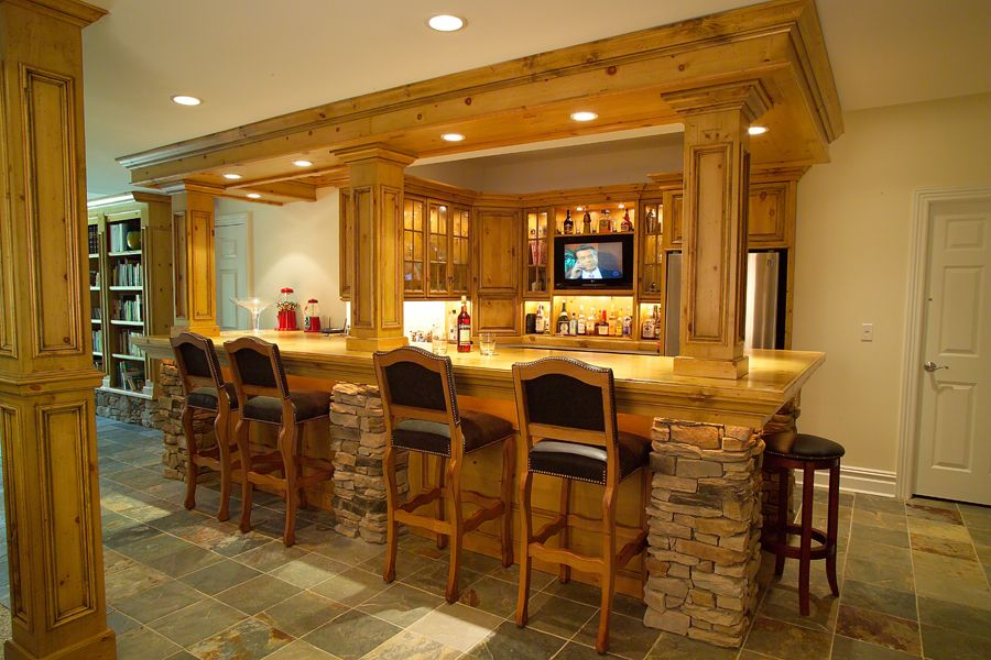 Home Bars Pictures | Custom Bar Cabinetry, Custom Cabinets - Bar