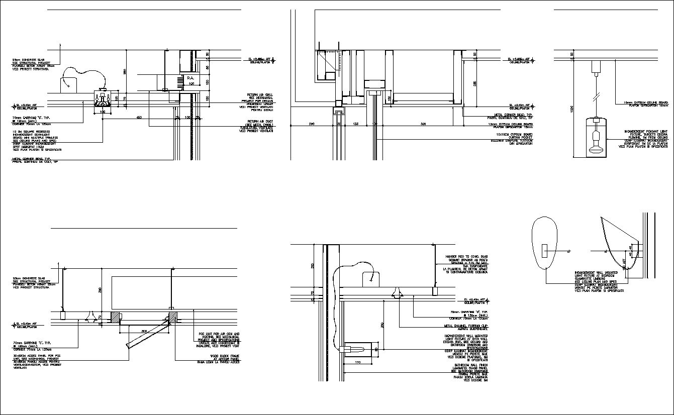 Ceiling Details V2 | Interior design | Ceiling detail, Cad drawing