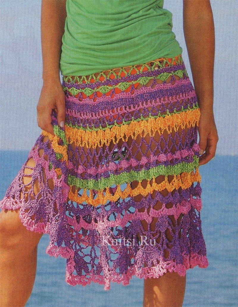 Knitsi.Ru shares this skirt. Use chart to make shawl? Chart is here ...