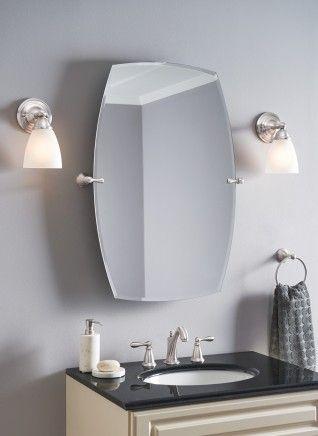 rockcliff brushed nickel mirror bh5292bn moen bathroom ideas rh pinterest com