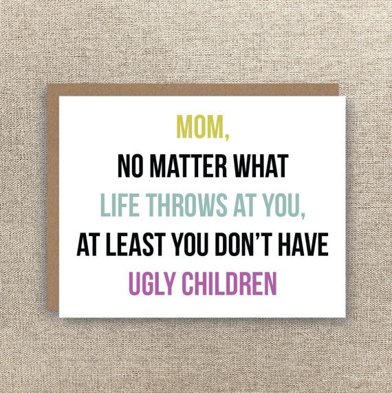Mom Card - Funny Mother\u0027s Day Card - Funny Mom Birthday Card - Mom