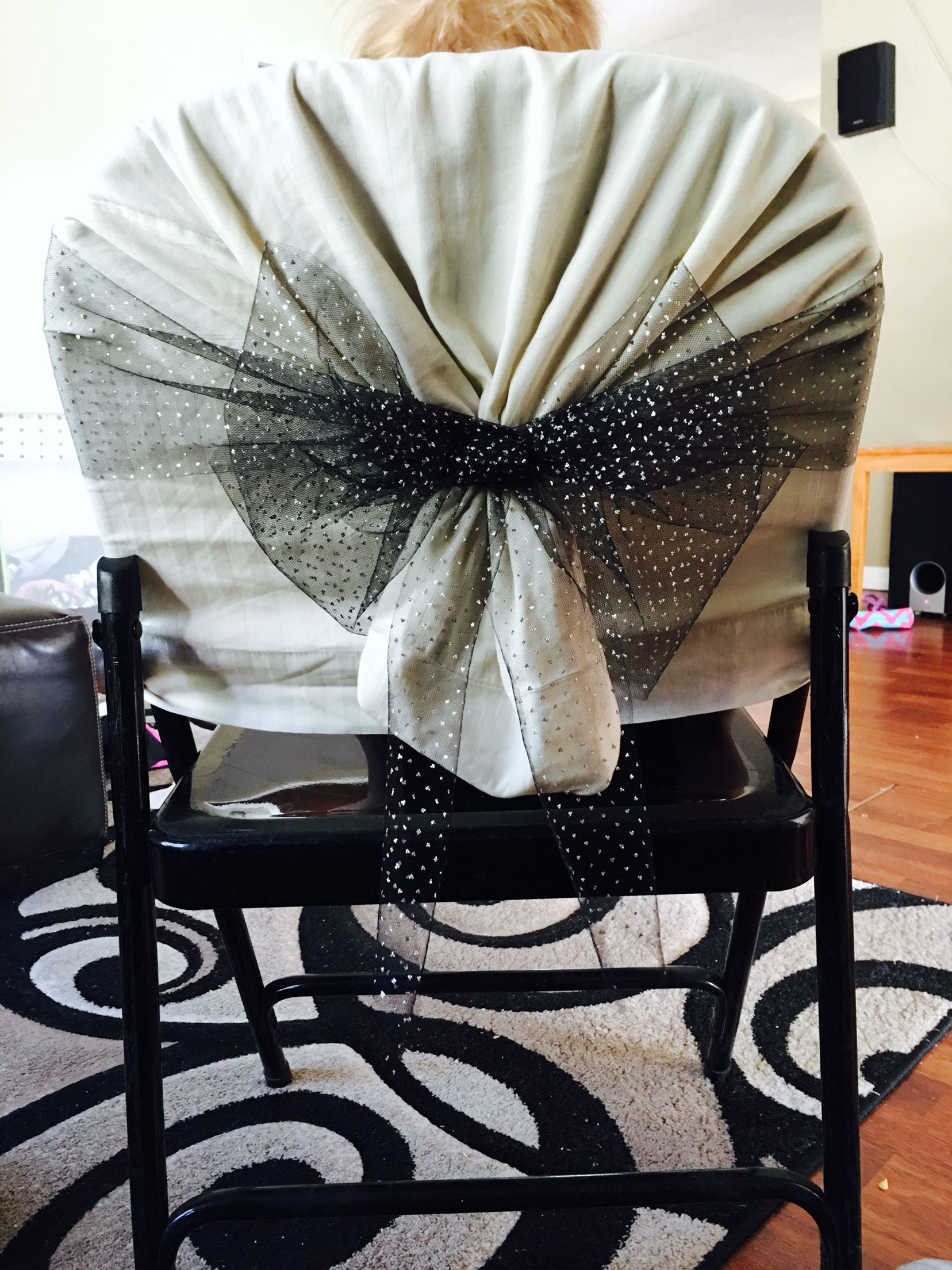 metal chair covers wedding power lift cover pillow case and tulle diy neat ideas in 2019