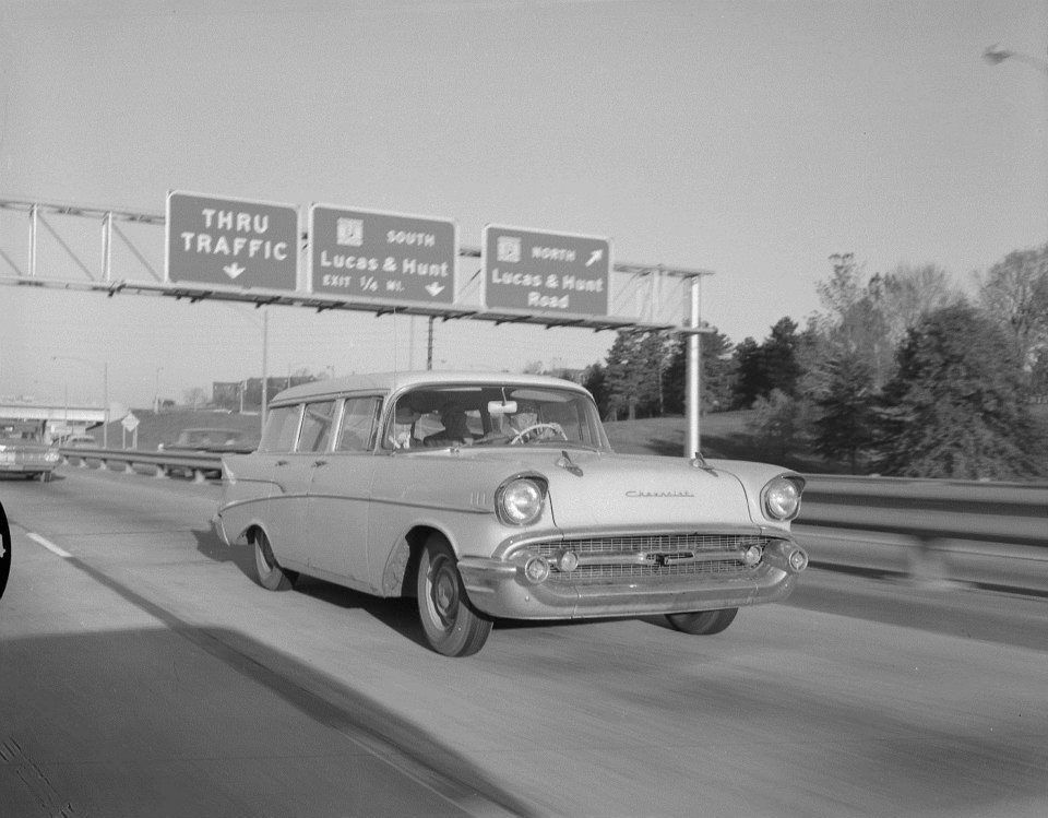 Vintage Photo Of Car On Area St Louis Highway From Vintage St