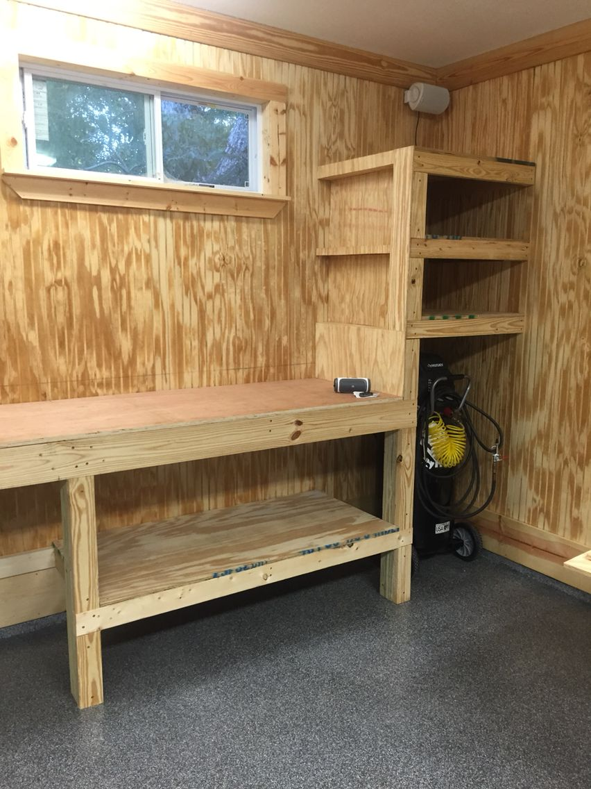 Swell Garage Work Bench In 2019 Diy Garage Storage Garage Andrewgaddart Wooden Chair Designs For Living Room Andrewgaddartcom