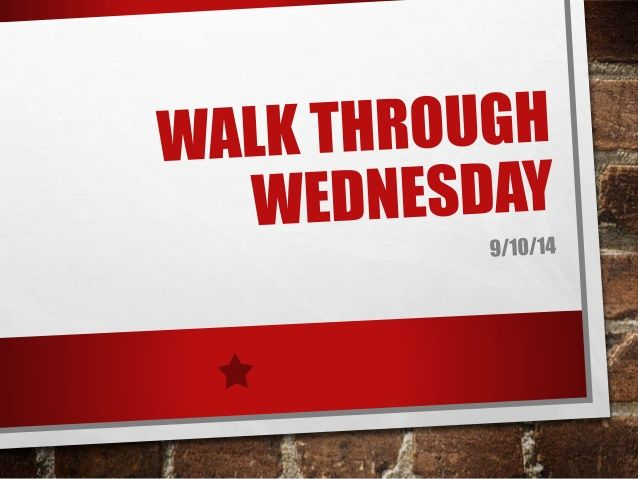 Walk Through Wednesday (140910) by National Association of Home Builders via slideshare