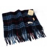Burberry Cashmere Dark Blue Nova Check Scarf