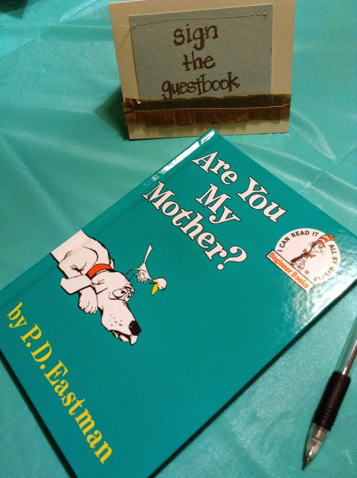 Baby Shower Sign In Book For Guests ~ Love this i the idea of having everyone sign one
