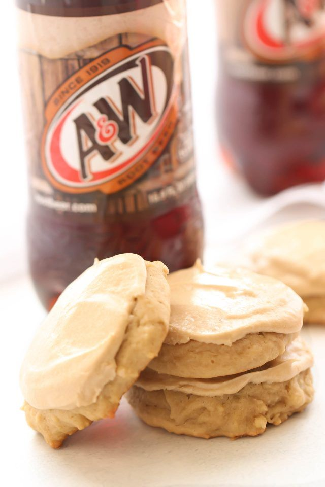 Root Beer Float Cookies #rootbeerfloat
