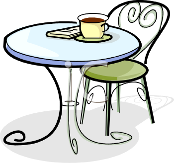 Royalty Free Clipart Image Coffee Sitting On A Bistro Cafe Table Cafe Tables Table Homemade Chai Tea