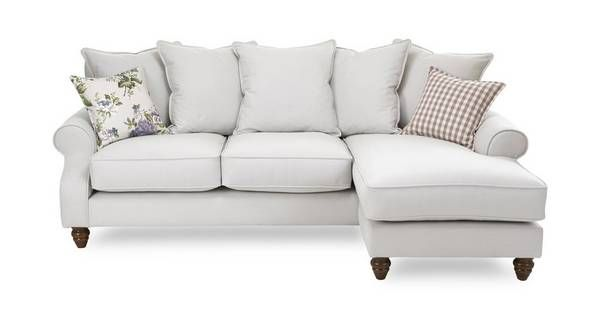 Ellie Plain Right Hand Facing 4 Seater Chaise End Sofa Dfs