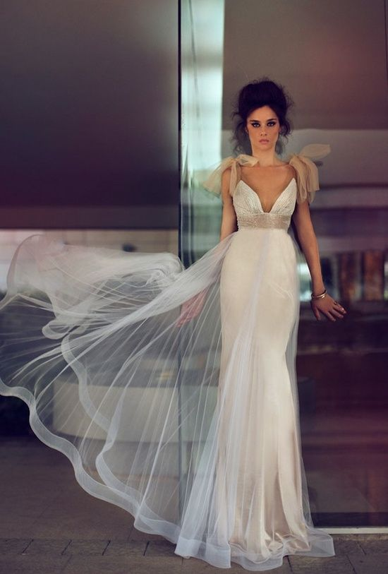 Sexy modern wedding dress