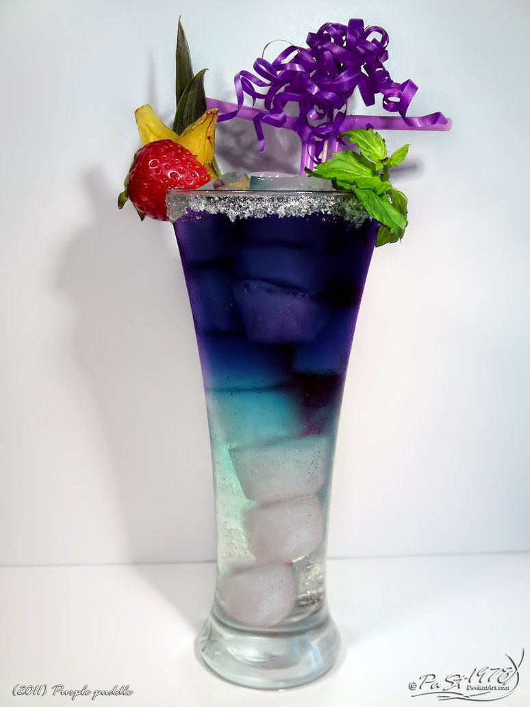 purple puddle curacao blue vodka black sun sprite and