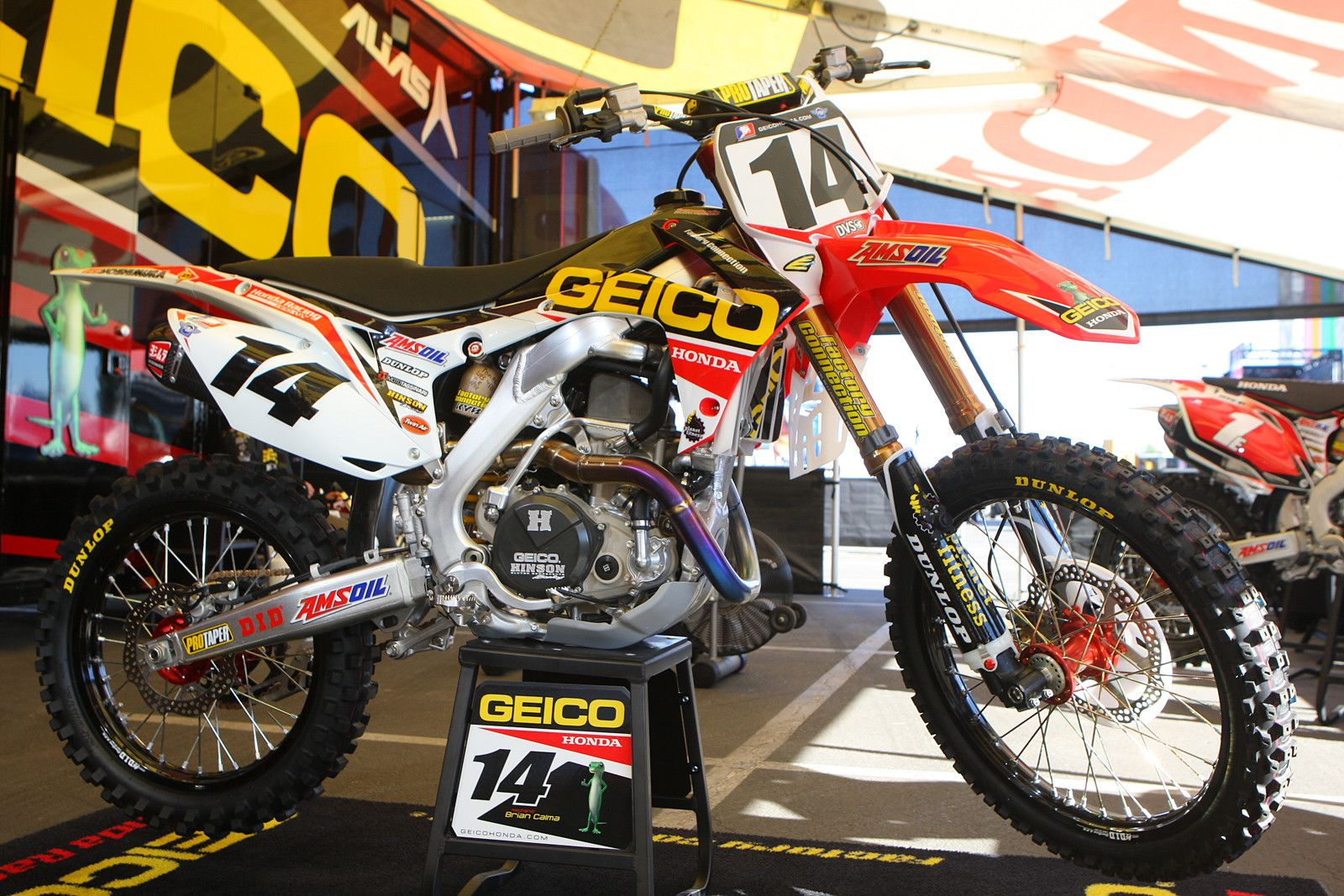 honda crf 450 team geico honda kevin windham supercross. Black Bedroom Furniture Sets. Home Design Ideas