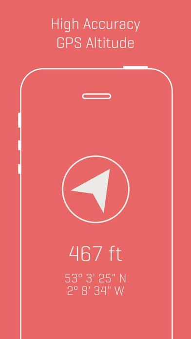 iOS] Alti - Minimalist Travel Altimeter & Compass #Free