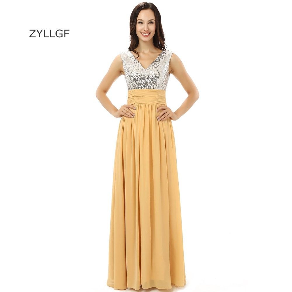 Click to buy ucuc zyllgf sexy long evening dress sheath v neck floor