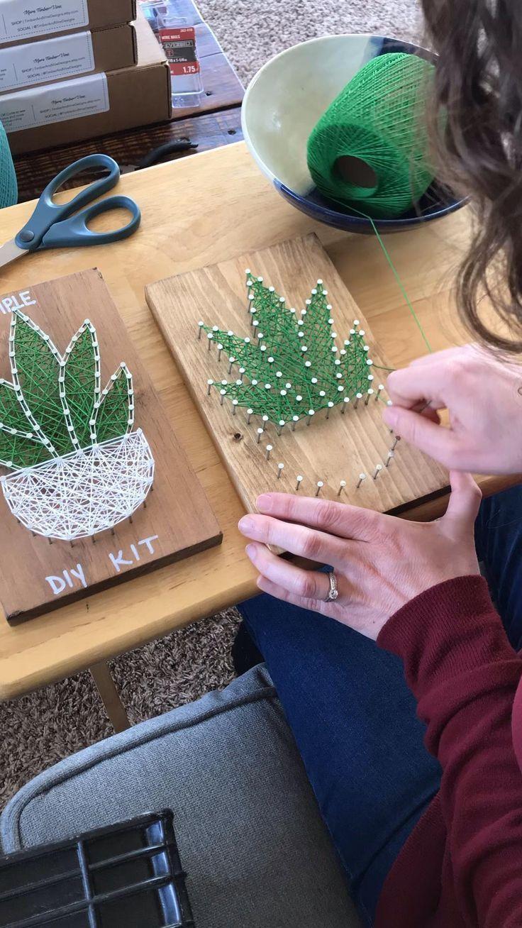 String Art Kit  String Art  DIY Kit  Wood Sign Cra