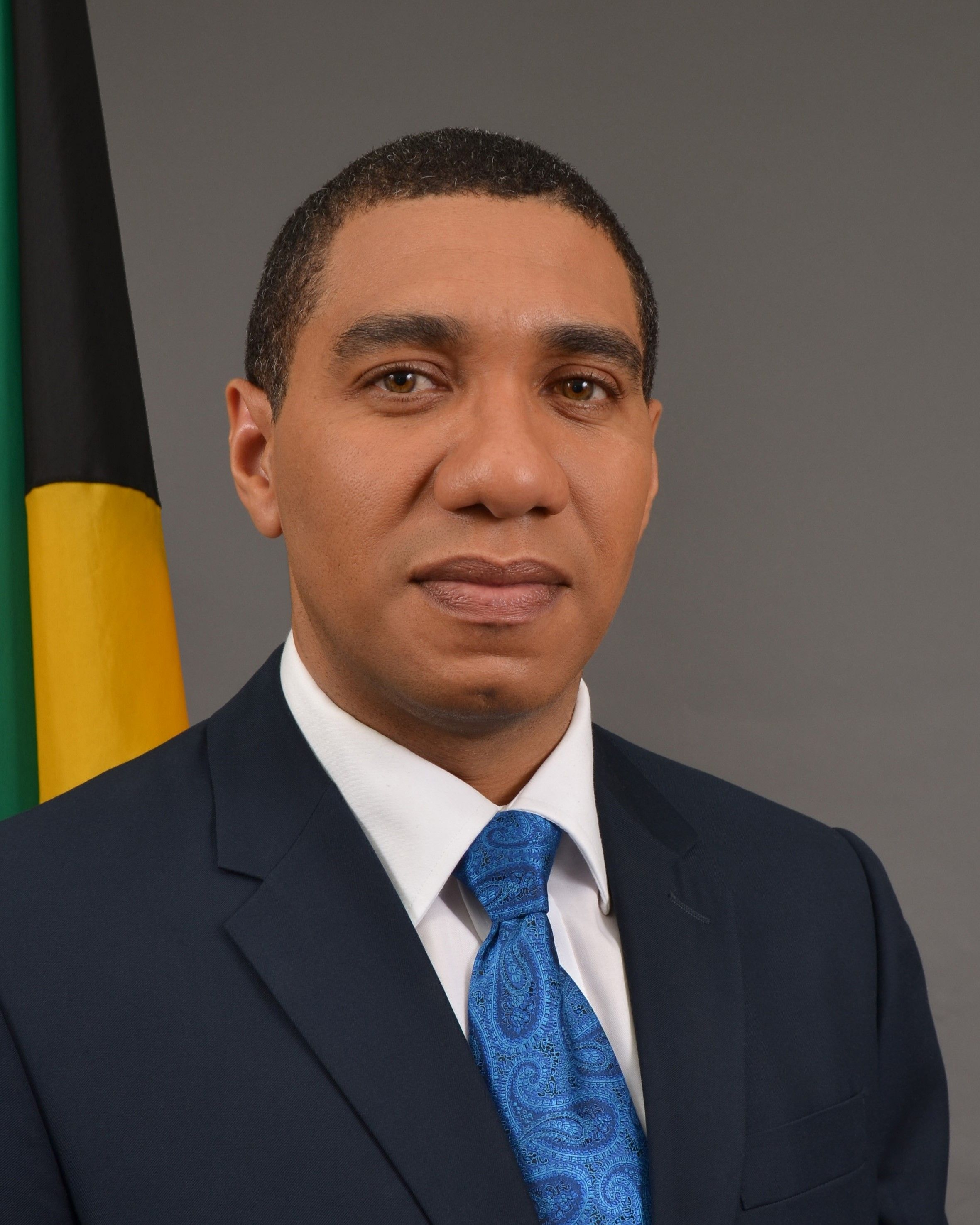 This Is A Picture Of Jamaica's Prime Minister Andrew Holness