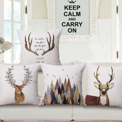 Excellent Deer Throw Pillows For Brown Couch Scandinavian Pillows Inzonedesignstudio Interior Chair Design Inzonedesignstudiocom
