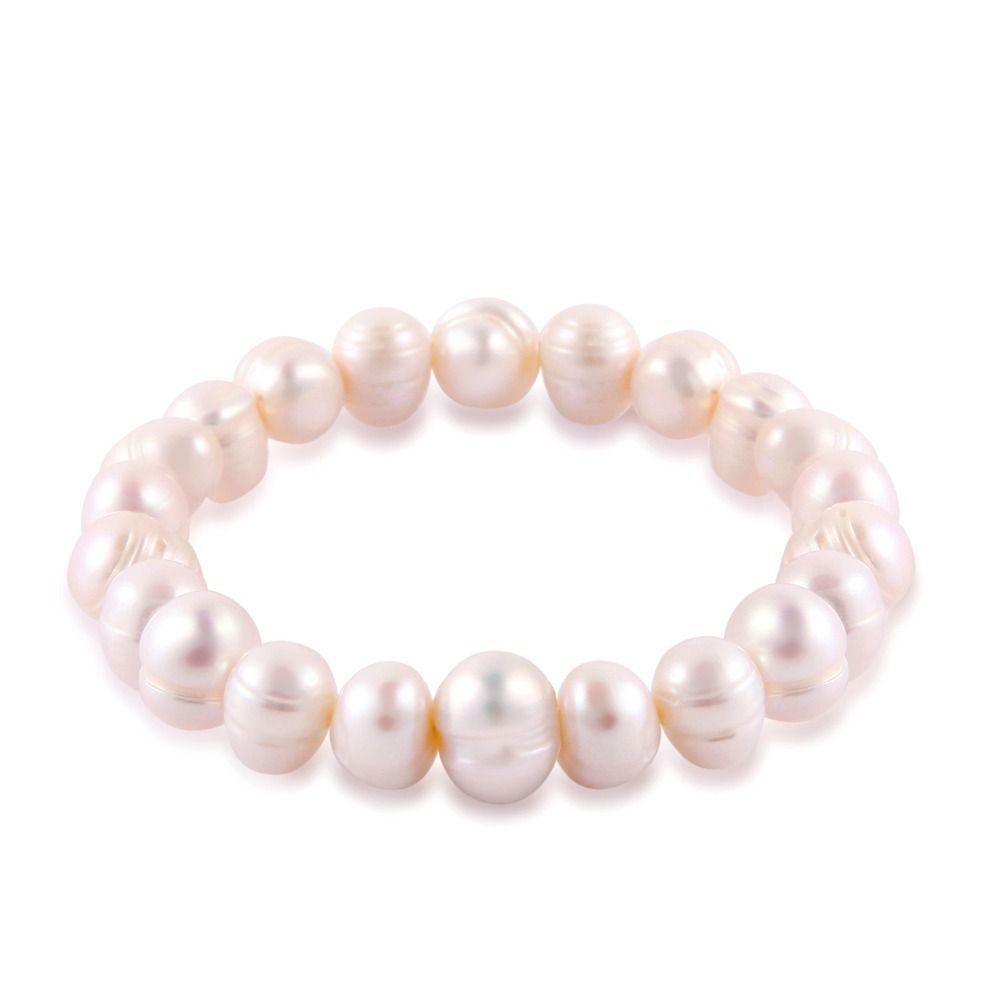 Baroque freshwater pearl bracelet women elastic rope charm bracelets