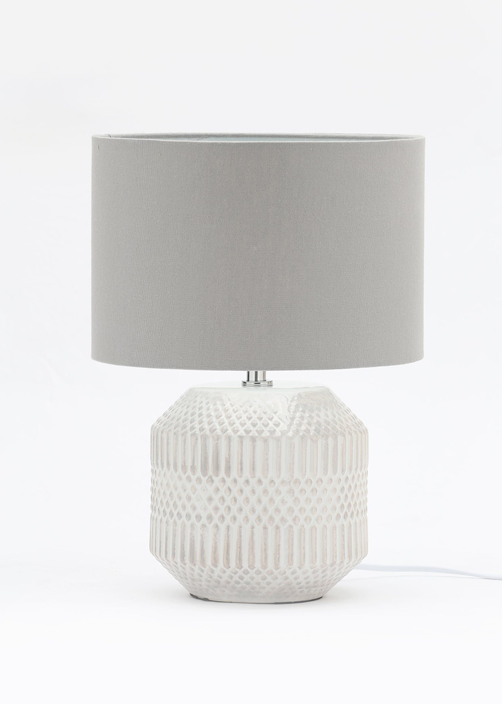 Table Lamp In Black Glazed Ceramic