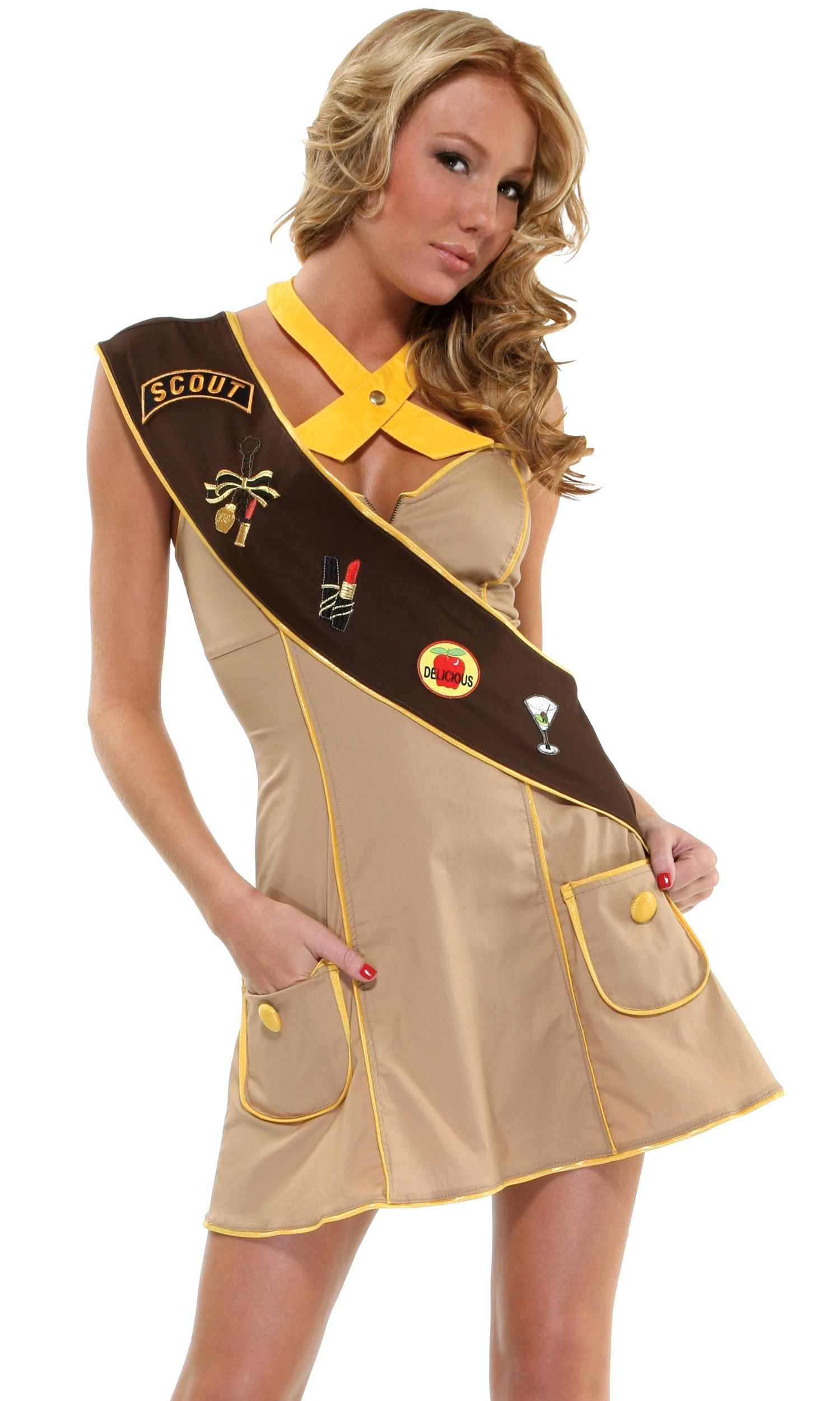 Disiao Sexy Scout Role Play Costume Set Halloween Suits Cosplay For Teen Girl Woman