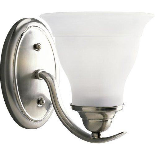 Photo of Progress Lighting Trinity 1 Light Bath Light – Brushed Nickel P3190-09