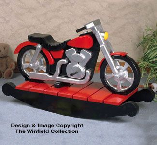 Motorcycle rocker woodworking plan craft ideas for Woodworking plan for motorcycle rocker toy