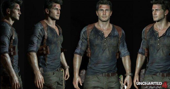 Uncharted 4 Nathan Drake Character Model Nathan Drake