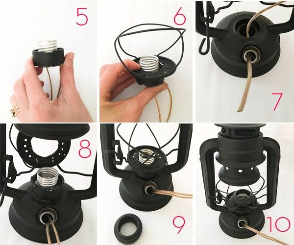 Photo of Easy DIY: How to Make a Lamp from a Rustic Oil Lantern
