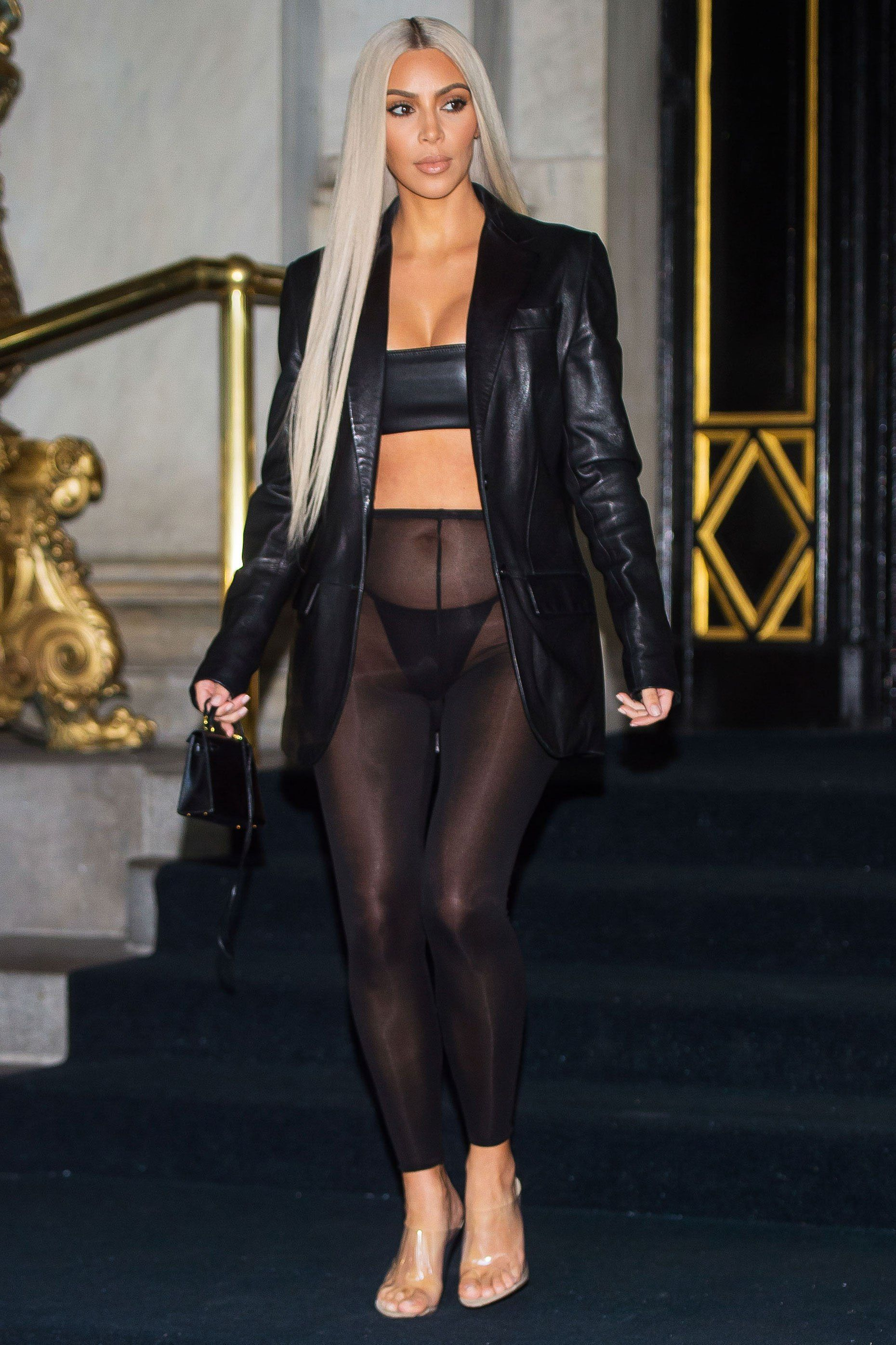7fee43772a6 Kim Kardashian Wears See-Through Leggings in Her Most Outrageous ...