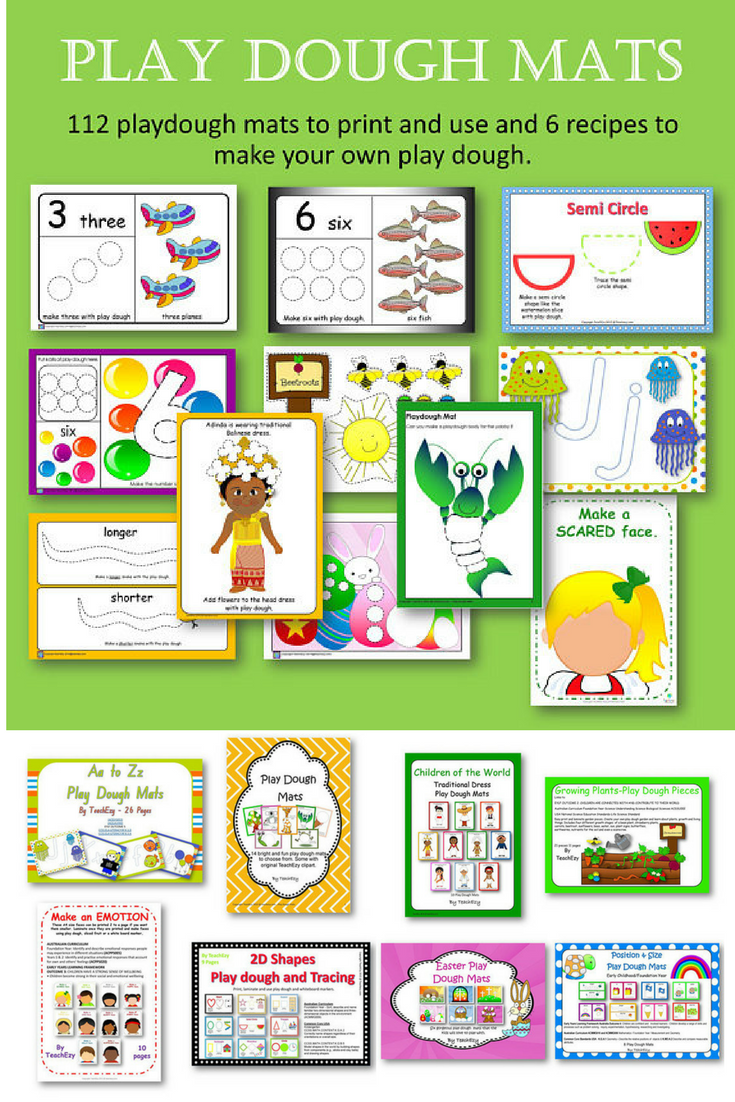 Play Dough Mats and Recipes for you to print off, laminate, and use ...